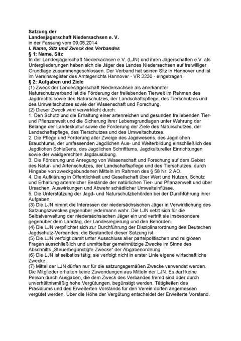 LJN Satzung idFv vom 09.05.2014 Seite 1