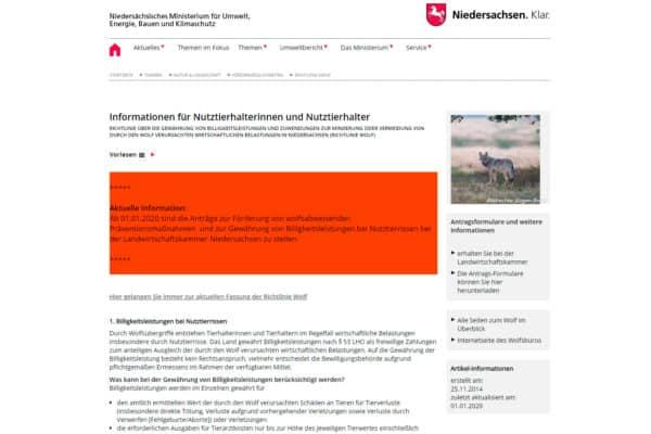 Informationen für Nutztierhalterinnen und Nutztierhalter