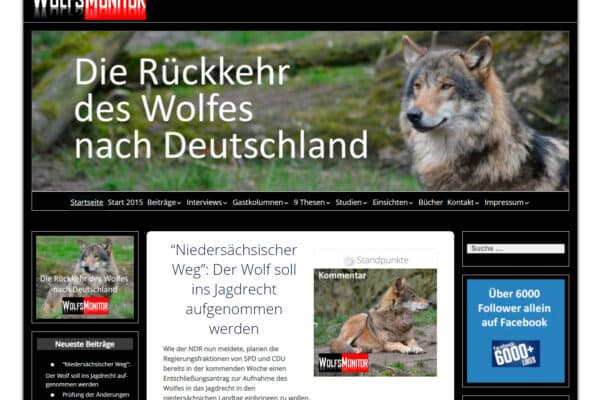 Wolfsmonitor – Die Rückkehr des Wolfes nach Deutschland